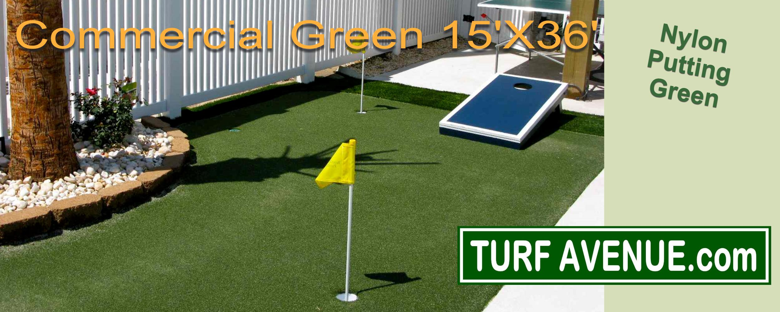 Synthetic turf putting greens